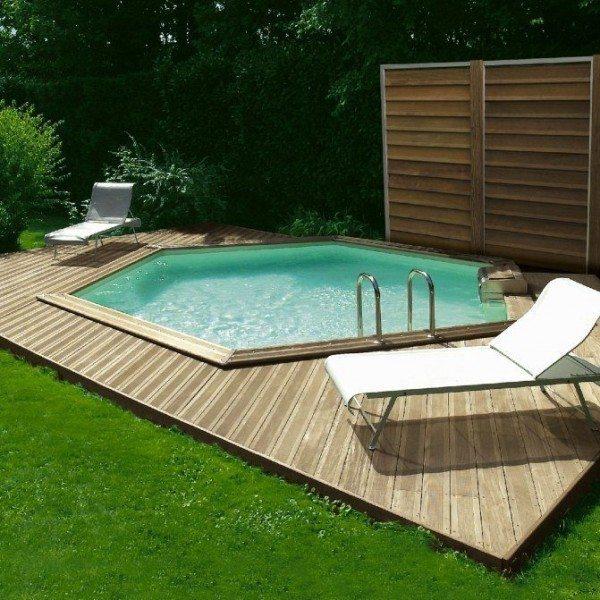 Piscinas madera awesome piscina de madera ovalada gre - Piscinas de madera baratas ...