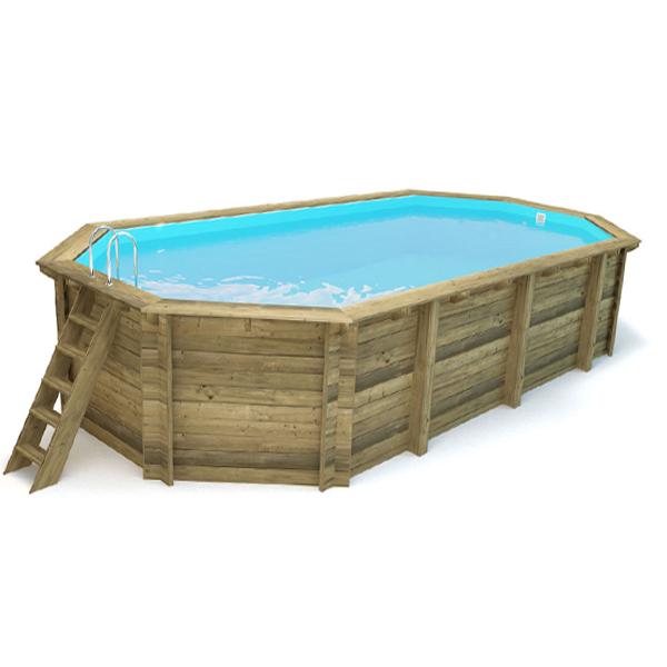 imagen piscina de madera Nika 857cm x 457cm x 145cm