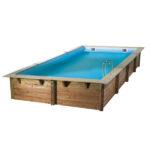 piscina de madera 650cm x 350cm x 140cm vista