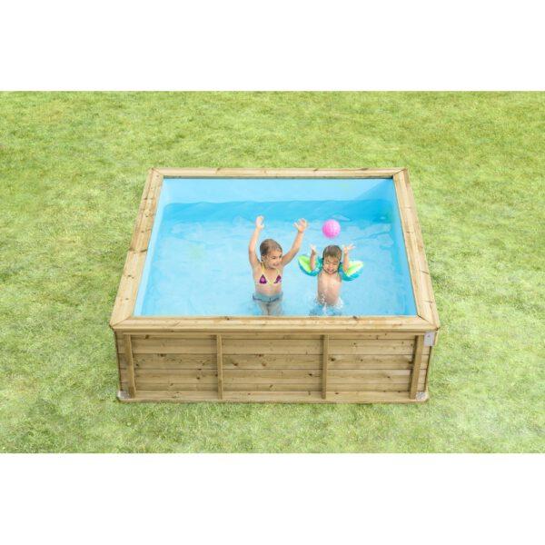 Mini piscina de madera 2 26x2 26x0 63m piscinas athena for Piscine pistoche