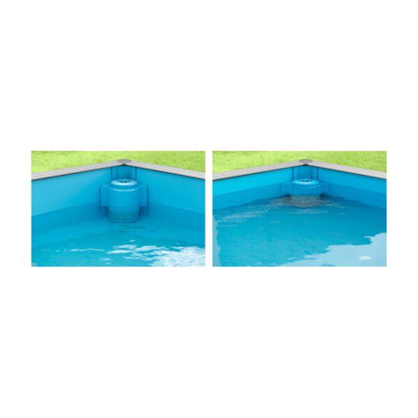 Mini piscina de madera 2x2x0 63m piscinas athena for Piscine bois enfant