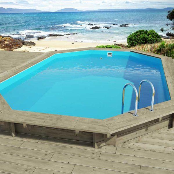 Piscina de madera nika 657cm x 457cm x 131cm piscinas athena for Piscinas athena