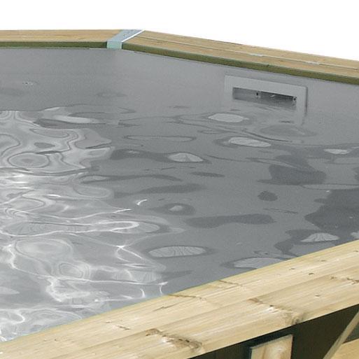 Piscina de madera 580 cm x 130 cm piscinas athena for Liner piscine hors sol 75 100 castorama