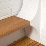 imagen Banco y tarima de madera cabina de hidromasaje Athena