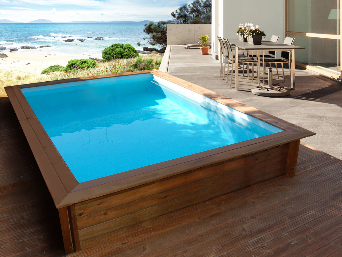 mini piscina de madera nika 3 x 2m piscinas athena. Black Bedroom Furniture Sets. Home Design Ideas