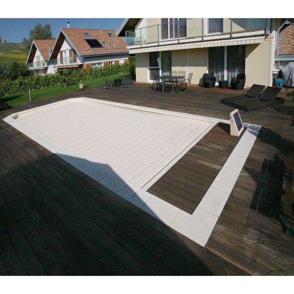 Cubiertas de persiana para piscinas piscinas athena - Climatizar piscina exterior ...