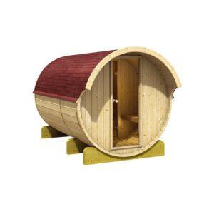 imagen sauna Finlandesa de Barril Karribu con cámaratérmica4/6 plazas