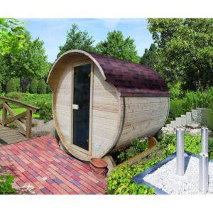 imagen sauna Finlandesa de Barril Karribu 4/6 plazas