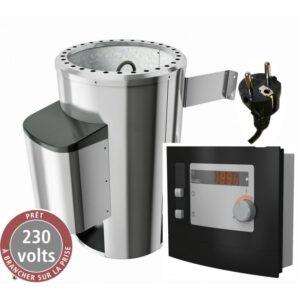 imagen caldera de sauna 3,6KW con mando externo