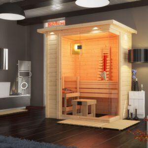 imagen sauna Finlandesa + infrarrojos Flurina