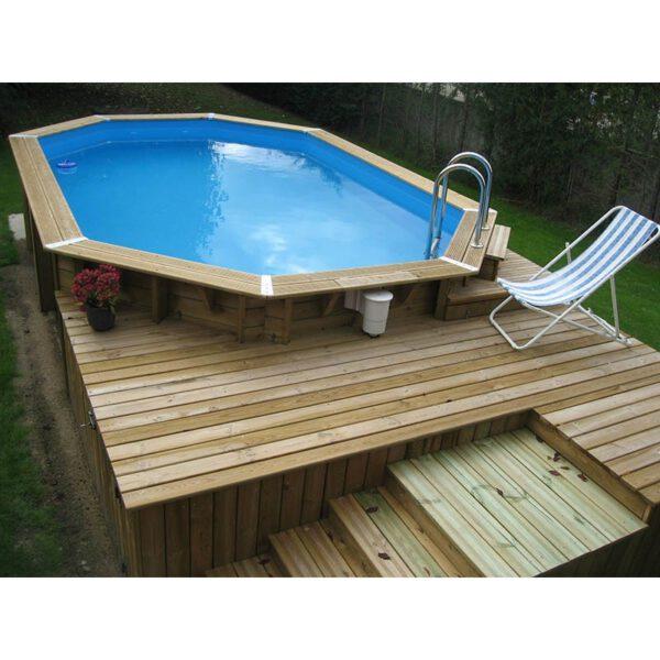 Piscina de madera 750 cm x 400 cm x 130 cm piscinas athena for Piscinas online ofertas