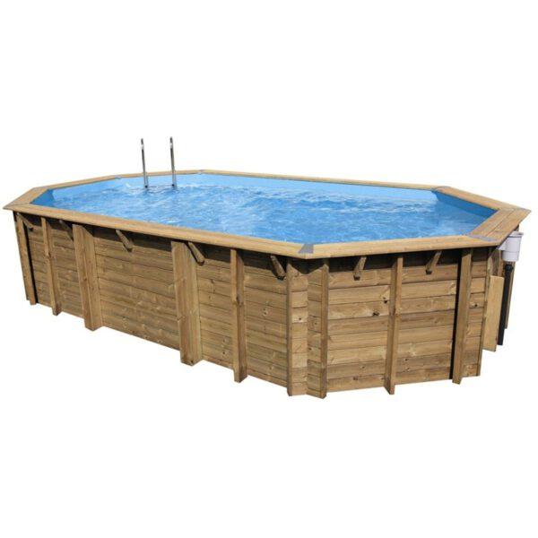 Piscina de madera 750 cm x 400 cm x 130 cm piscinas athena for Piscine bois pas cher rectangulaire