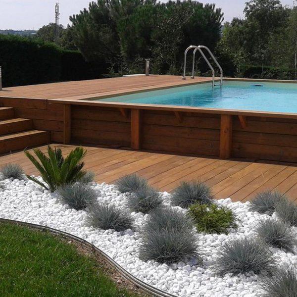 Piscina de madera urban pool 4 50 x 2 50 x 1 40m for Piscinas online ofertas
