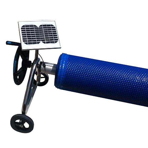 imagen Motor + placa solar para enrollador