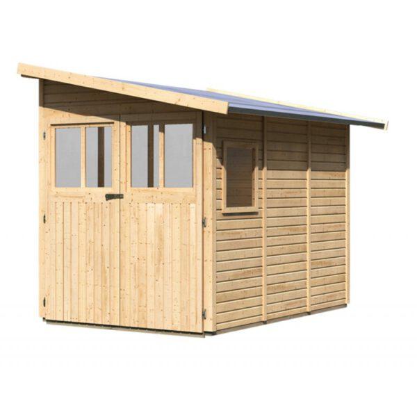Caseta de jard n wandlitz 3 karibu piscinas athena for Casetas de metal para jardin