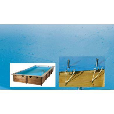 imagen Cubierta de seguridad para piscina de madera Rect 3,50 x 2m