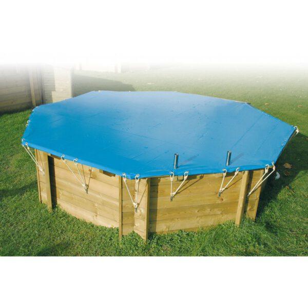 imagen cubierta de seguridad para piscina de madera Sun 4,10m