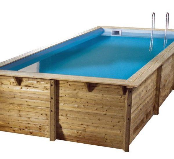 Piscina de madera sun rectangular 5 55 x 3 00 x 1 40m - Piscina madera rectangular ...