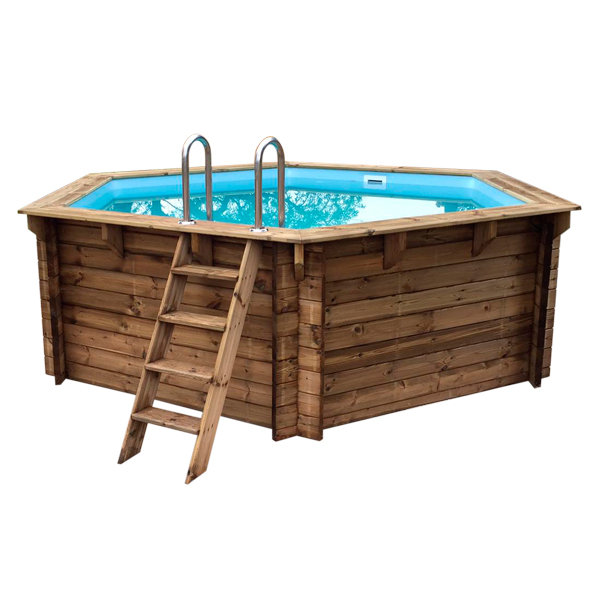 piscina de madera nika 410cm x 120cm vista