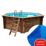 imagen piscina de madera nika 410cm x 120cm