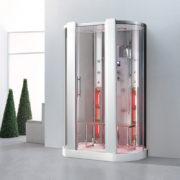 imagen cabina de hidromasaje Gavi vapor con infrarrojos