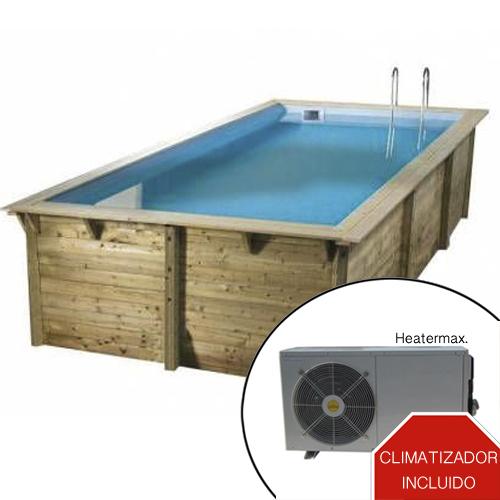 imagen Piscina climatizada de madera