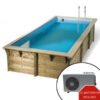 imagen piscina climatizada de madera 5,05 x 3,50m