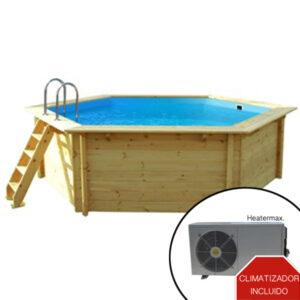 imagen piscina climatizada de madera 4,10