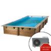 imagen piscina de madera climatizada