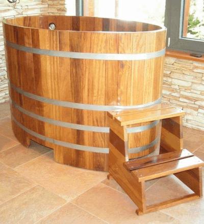imagen Sauna piscina de inmersión 130 x 79 iroko transparente