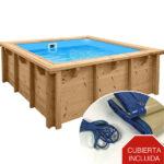 imagen mini piscina de madera Bali