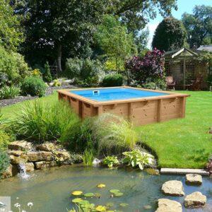 imagen mini-piscina de madera bali