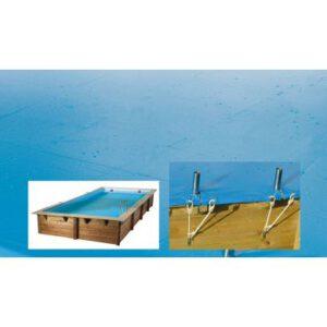 imagen Cubierta de seguridad para piscina de madera Rect 4,50 x 2,50m