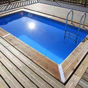 piscina de madera4,50m x 2,50m vista