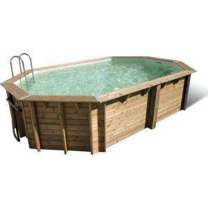 imagen piscina de madera maciza 610 x 400 cm