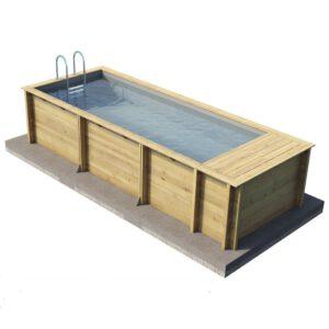 imagen piscina de madera Pool'n box
