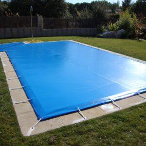 cubierta de Invierno piscina (forma rectangular con escalera lateral)