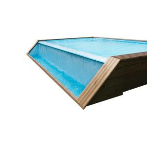 imagen piscina de madera Quartoo con desbordamiento