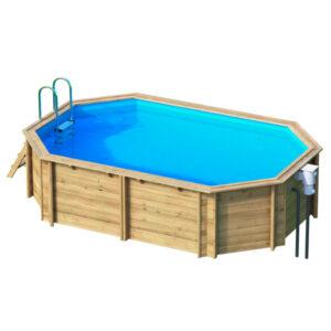 piscina de madera Tropic 4,50 vista