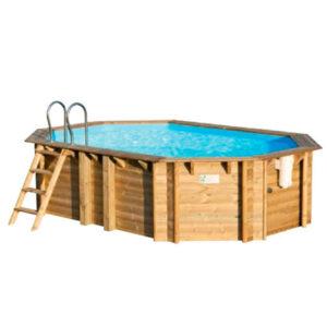 piscina de madera tropic 5,10 vista