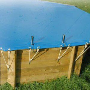 imagen cubierta de seguridad para piscina de madera Linea 6,50m
