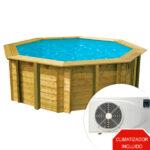 imagen piscina de madera climatizadaAll in One