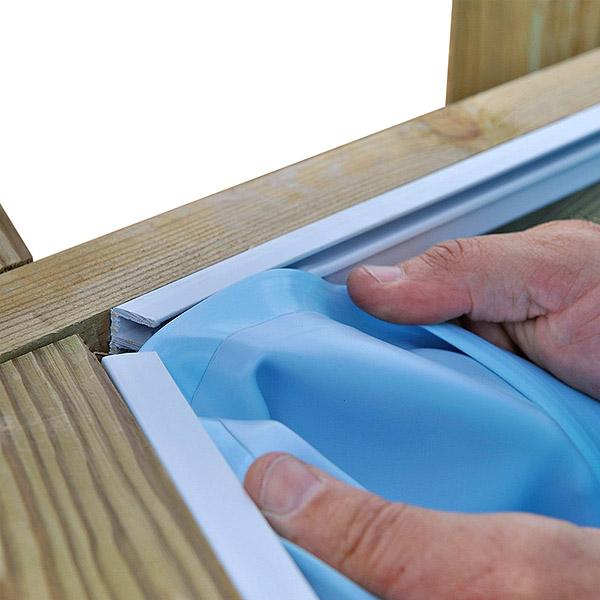 imagen Liner piscina de madera GRE 111