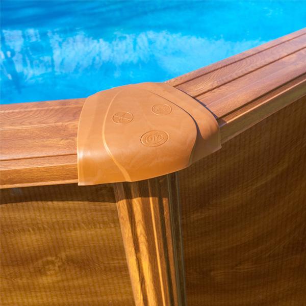 Protectores de inyeción piscina imitación madera