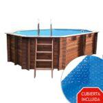vista piscina de madera cannelle