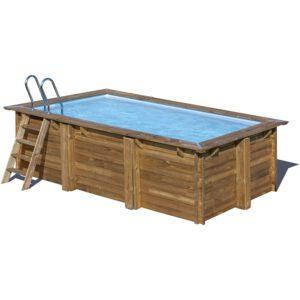 vista piscina de madera Marbella