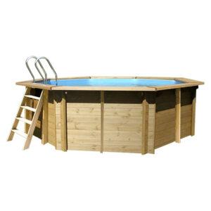 vista piscina de madera violette