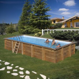 piscina de madera Evora vista