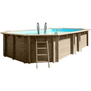 vista piscina de madera Safran
