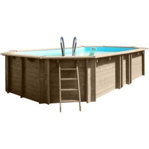 piscina de madera vermela vista